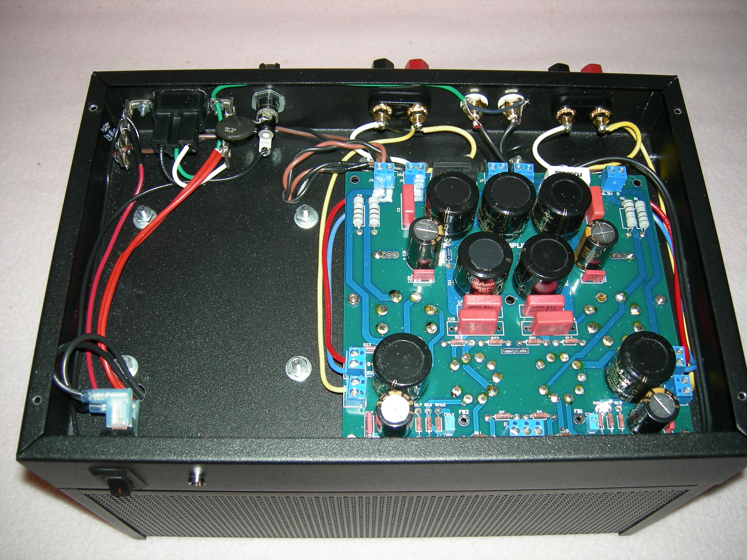 Home Built 6L6 SE Amplifier Under Chassis